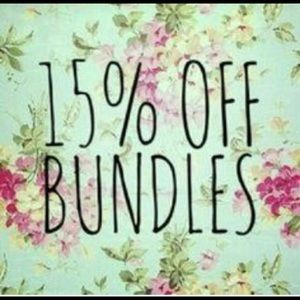 15% off In Bundles of two or more!!!